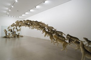 """Head On"" Wolf Exhibit by Cai Guo-Qiang"